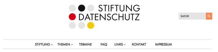 Fehlstart der neuen Website der Stiftung Datenschutz – wo sind die Datenschutzhinweise?