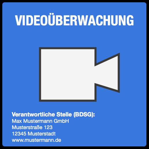 Muster Für Einen Hinweis Zur Videoüberwachung Hinweisschild