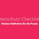 Webinar-Aufzeichnung Datenschutz-Checkliste