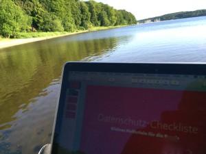 Letzte Webinarvorbereitungen an der Flensburger Förde