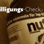 """Einwilligungs-Check: Nutella/Ferrero """"Entertainment for you""""-Sammelheft"""