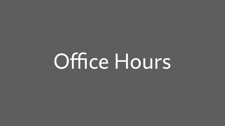 Office Hours vom 26.09.2018