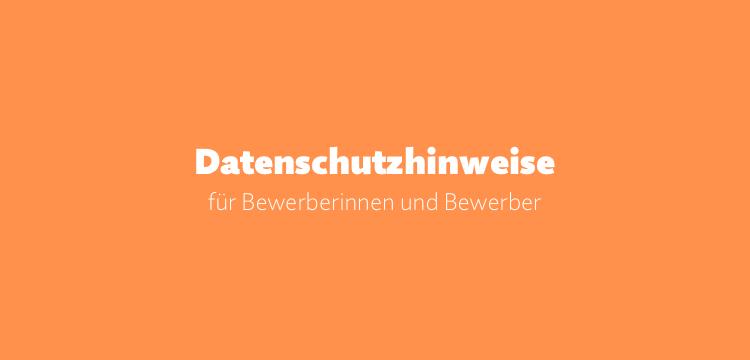 Datenschutz-Informationen für Bewerber (DSGVO / Muster)