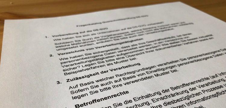 Hilfe: Datenschutz-Aufsichtsbehörde von Niedersachsen verschickt einen Fragebogen