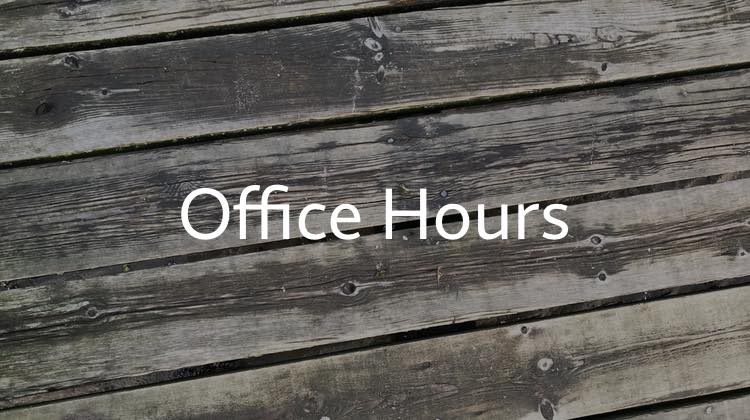 Office Hours für Beginner vom 24.04.2019