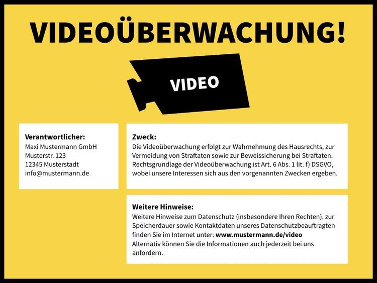 Praxisreihe Videoüberwachung (DSGVO): Das Hinweisschild