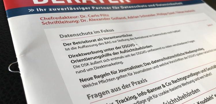 Datenschutz-Berater: Meine Zeitschriftenempfehlung für Datenschutzbeauftragte