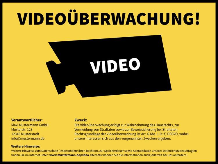 Praxisreihe Videoüberwachung Dsgvo Das Hinweisschild