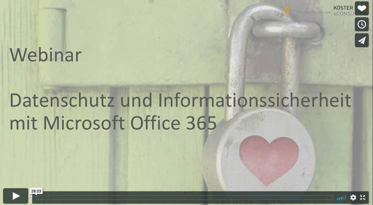 Webinaraufzeichnungen zu DSGVO & Datensicherheit in Office 365