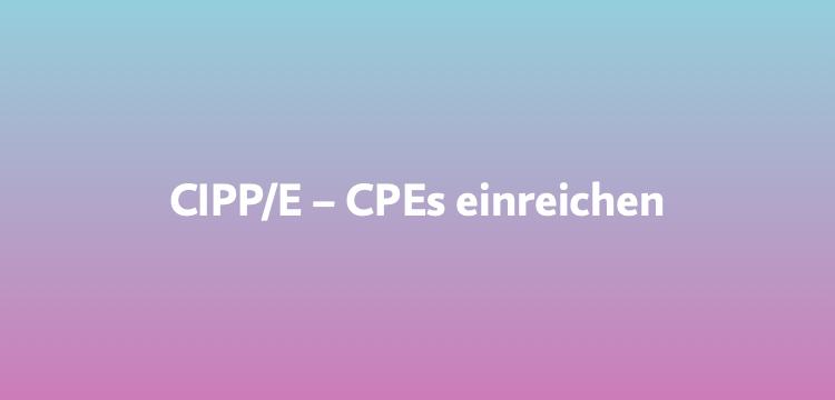 """""""CPE Credits"""" bei der iapp für Datenschutz-Guru-Veranstaltungen einreichen"""